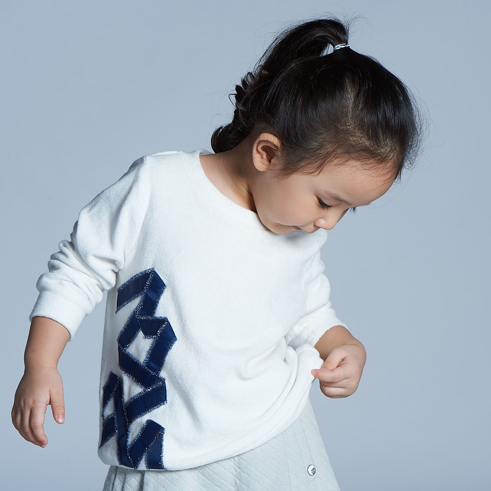 baby baby cool 星光璀璨上衣(白)