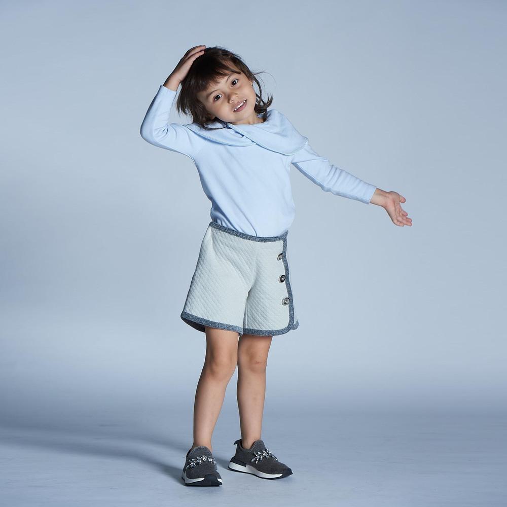baby baby cool|法式優雅鑲邊短褲