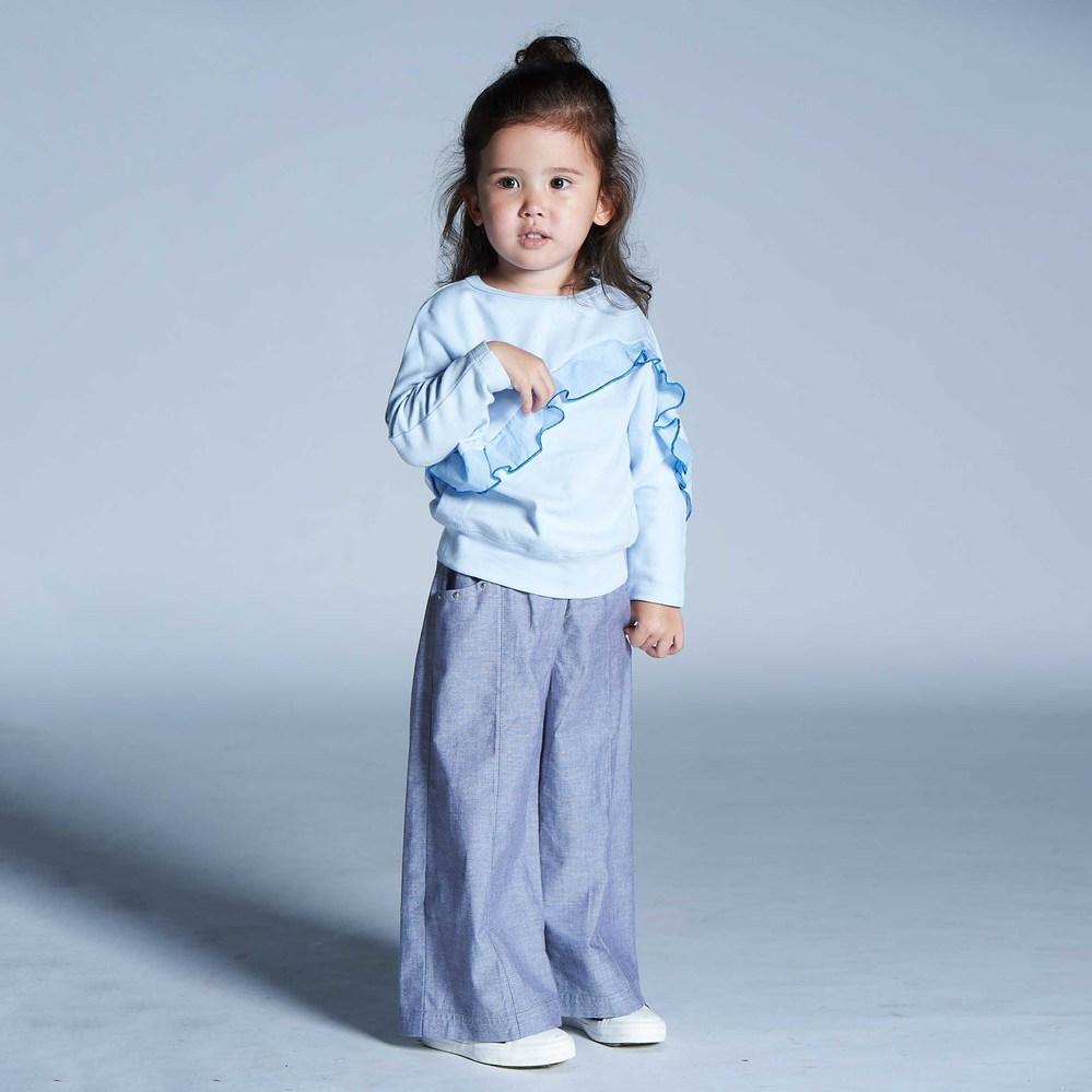 baby baby cool 率性牛仔寬褲