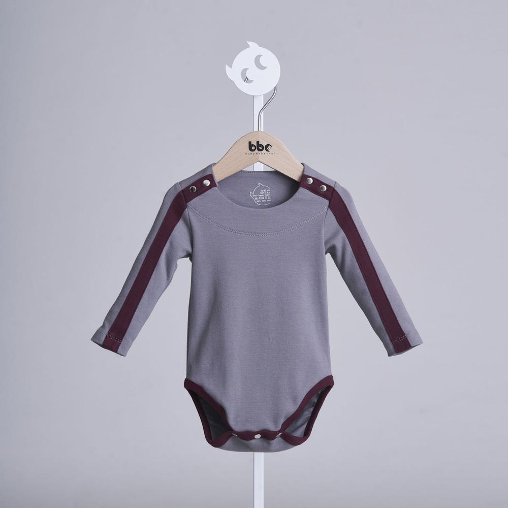 baby baby cool|carmen herrera系列 - 運動線條包屁衣(灰)