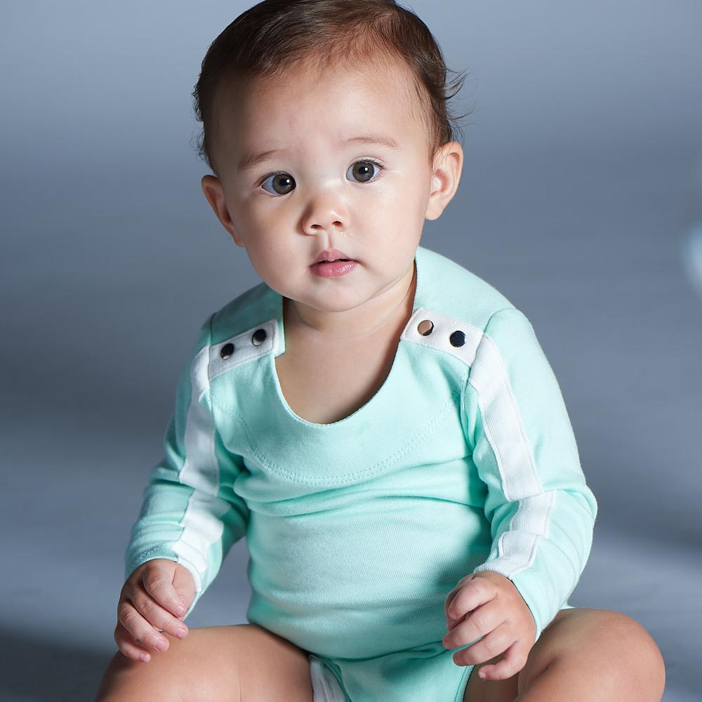 baby baby cool|carmen herrera系列 - 運動線條包屁衣(湖水綠)