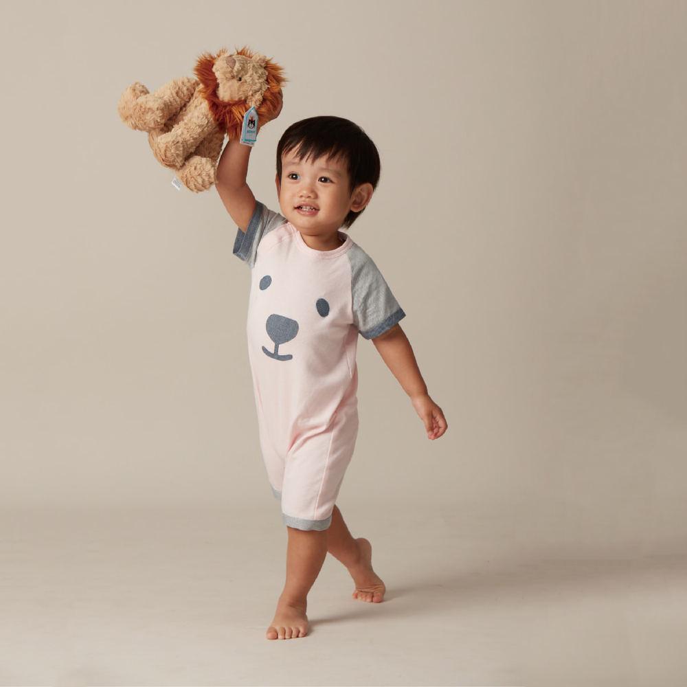 baby baby cool b b bear 單寧連身兔裝