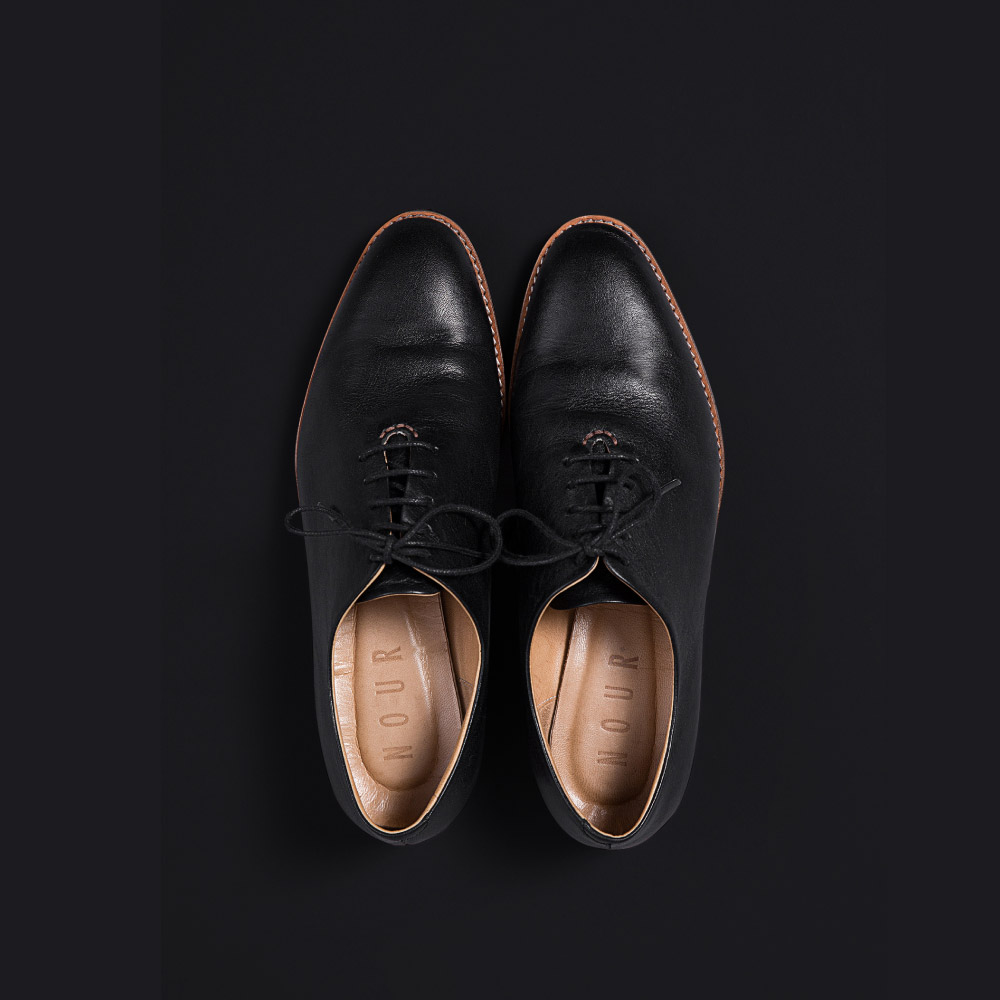 NOUR classic 經典款 oxford 全素面牛津鞋-Truffle 黑色