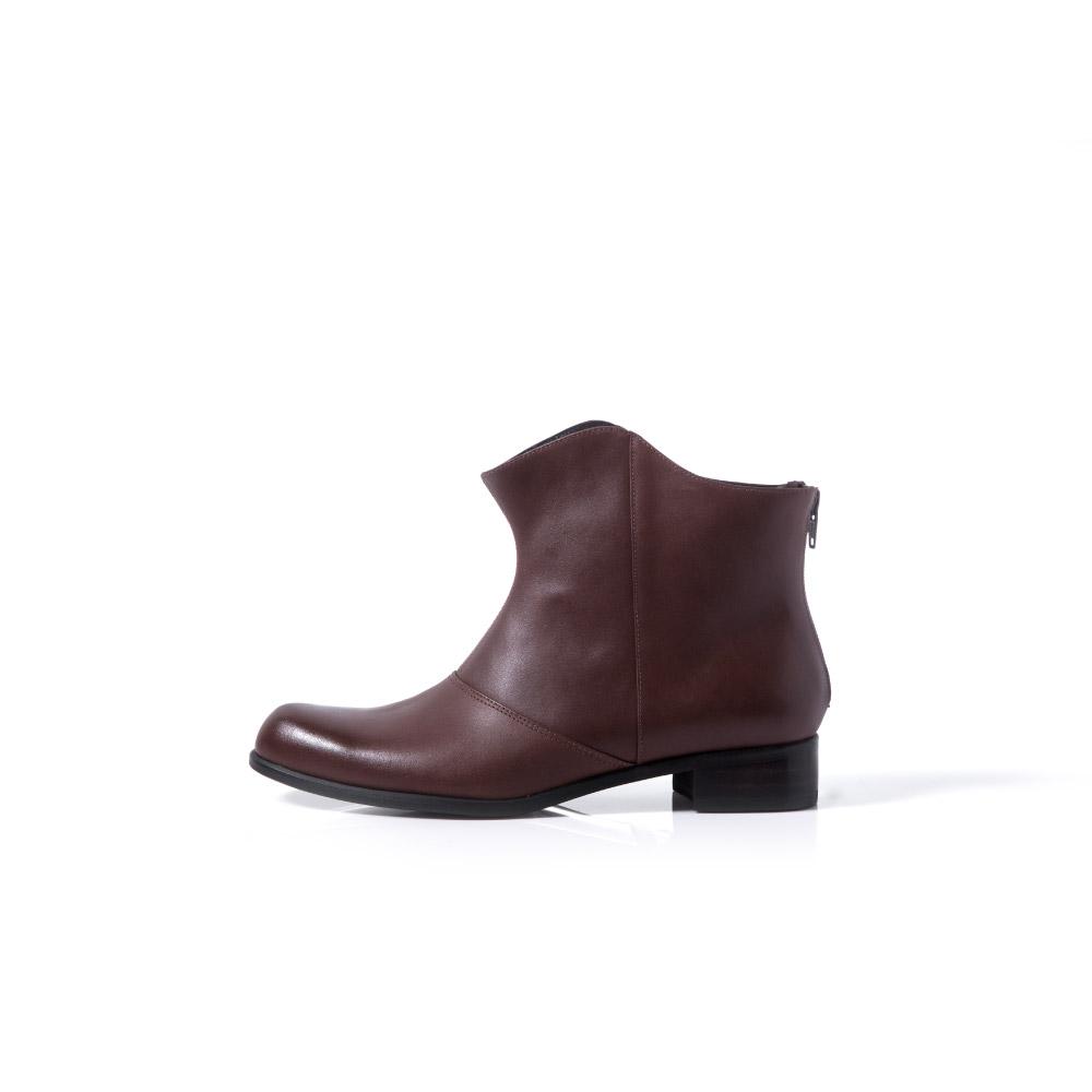 NOUR|shadow boot 倒影短靴-Umber 紅咖啡色
