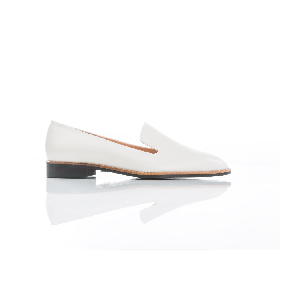 NOUR|classic 經典款 loafer 全素面樂福鞋-Latte Bianco 白色