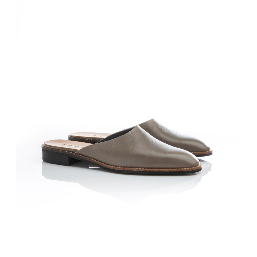 NOUR|mule 全素面拖鞋-Grey 灰色