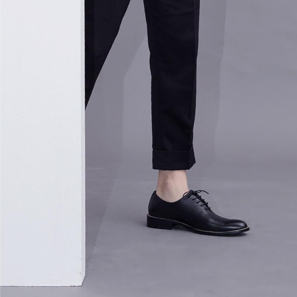 NOUR|classic MAN 男士經典款 oxford 全素面牛津鞋-Black 黑色