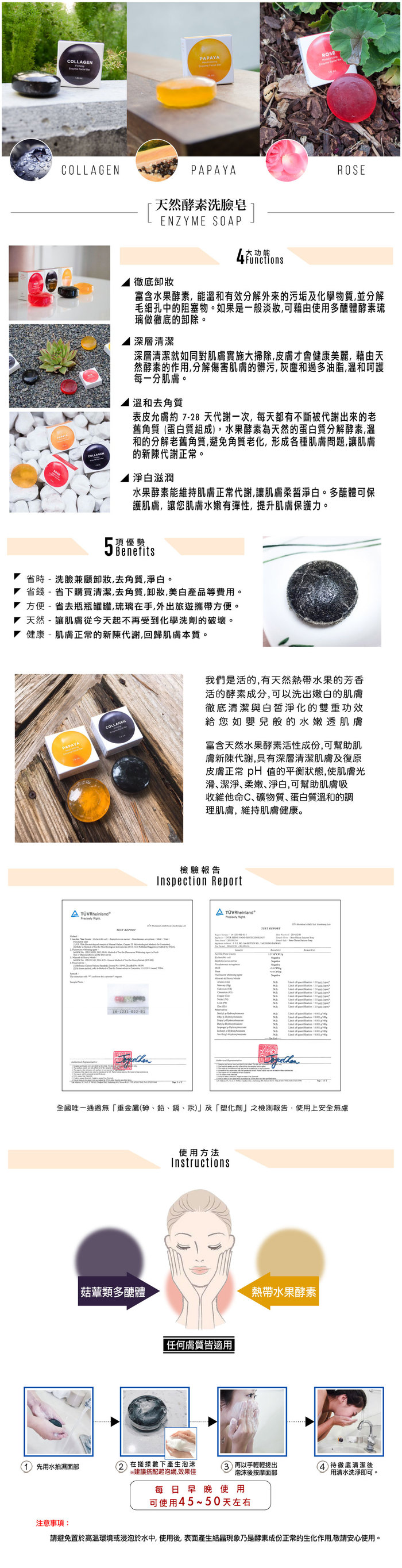 美國 Celeste|木瓜酵素洗臉皂