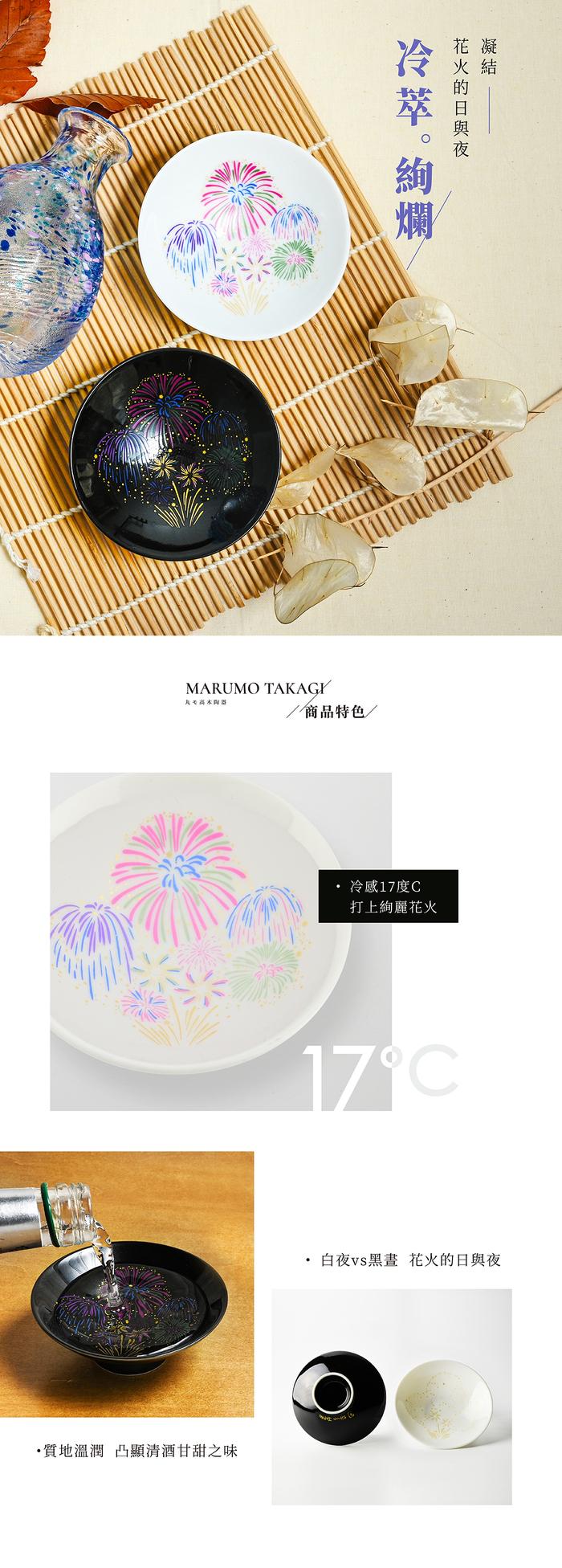 (複製)丸モ高木陶器|燦爛夏夜花火冷感變色SHOT杯(2入/組)