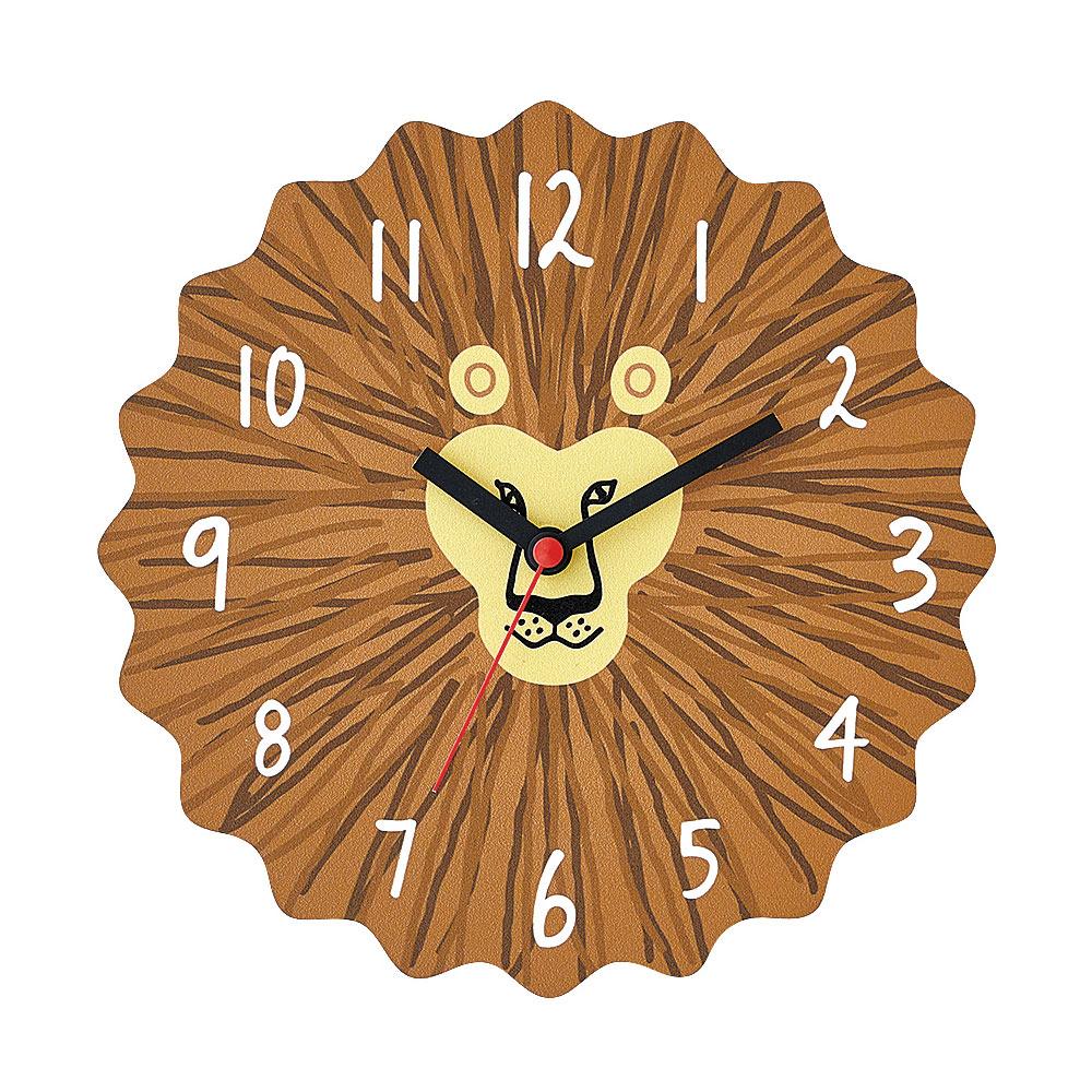 Zeller Life 蓬鬆鬆獅子 靜音 時鐘 掛鐘