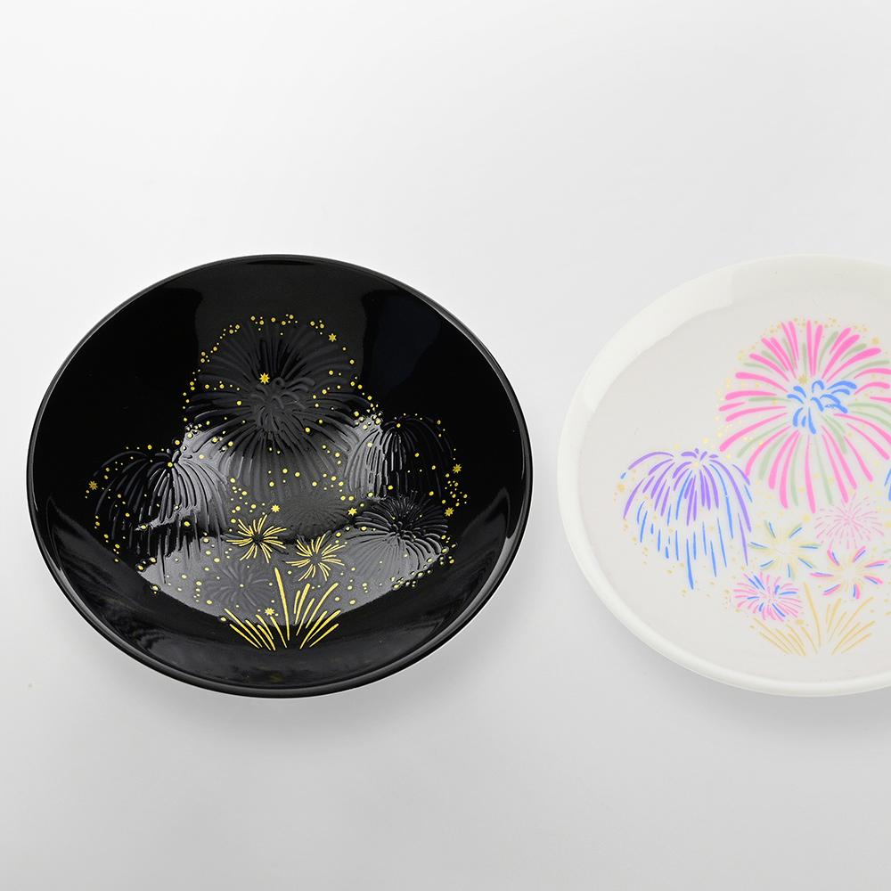 丸モ高木陶器|絢爛夏夜花火冷感變色清酒杯(2入/組)