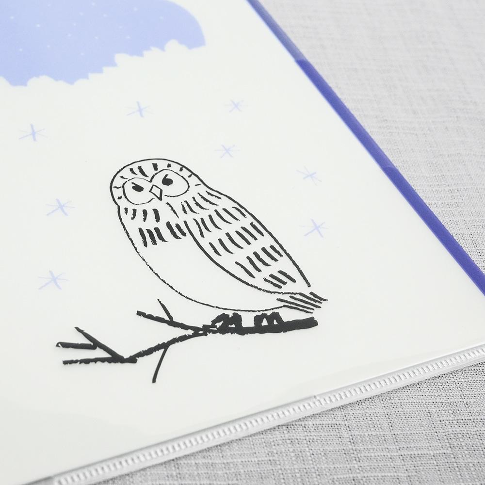 El Commun|森林精靈A5資料夾-貓頭鷹