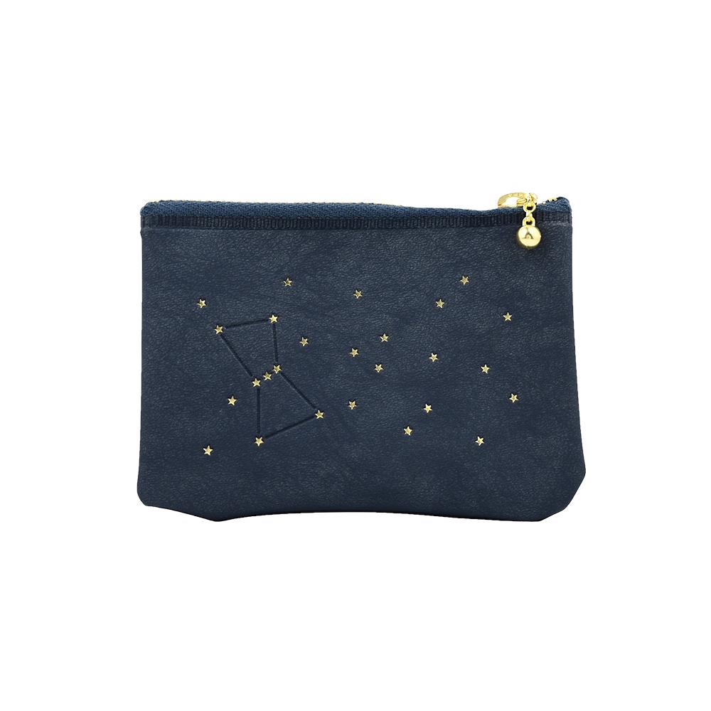 El Commun|閃亮恆星卡片零錢包-海軍藍