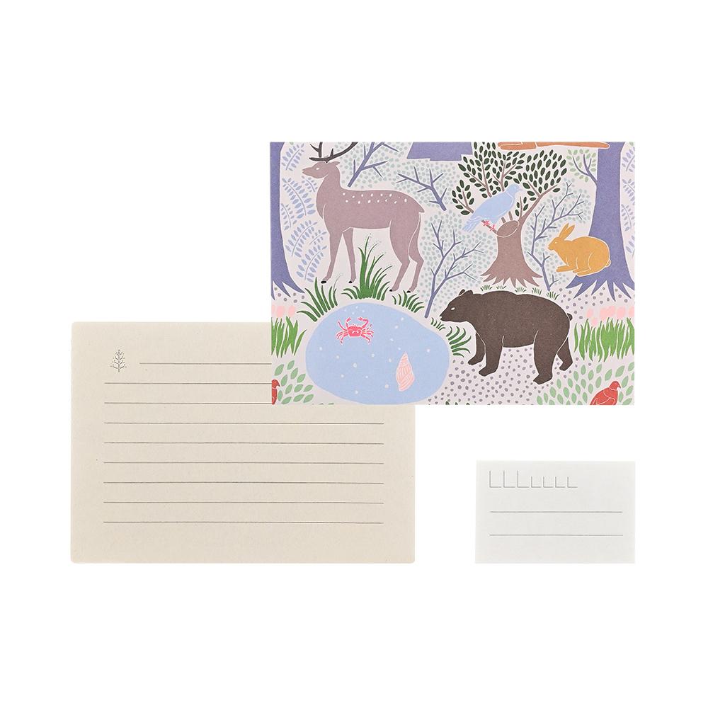 El Commun|繽紛旅行信封信紙組-森林