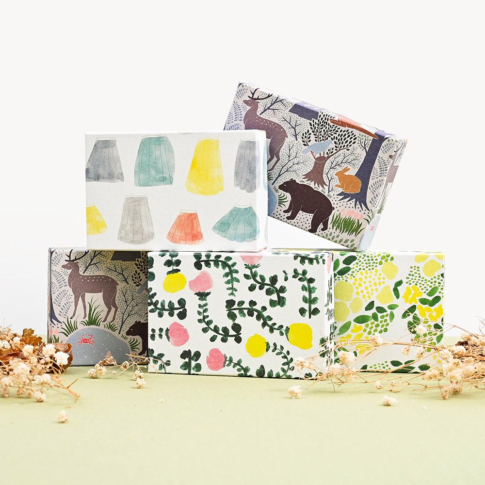 El Commun|繽紛旅行禮物包裝盒-森林(小)