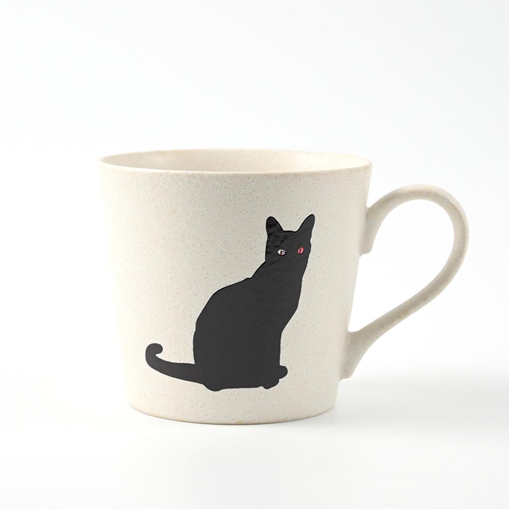丸モ高木陶器|日本暖暖變色貓貓馬克杯-尋找貓咪款(霧白)