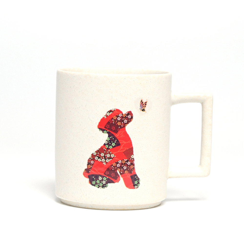 丸モ高木陶器 日本暖暖狗狗變色馬克杯-貴賓狗(霧白)