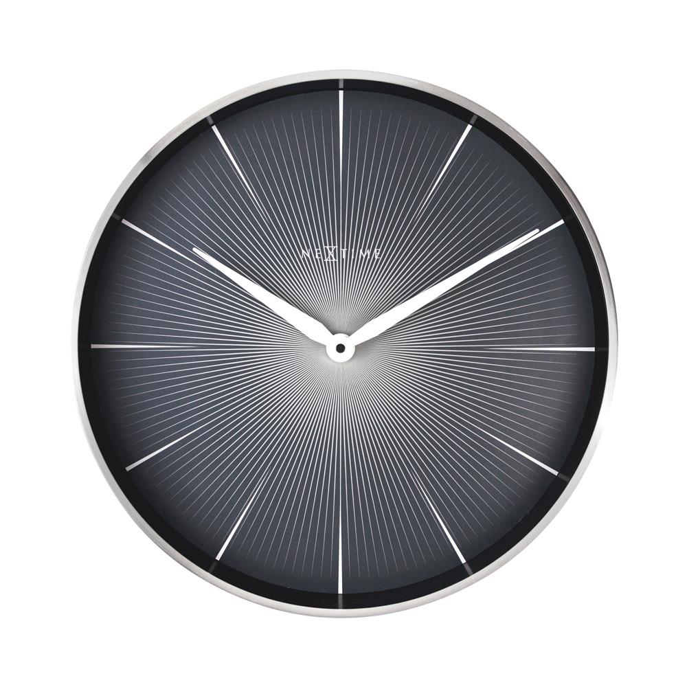 NEXTIME|北歐兩秒一線靜音掛鐘(黑)