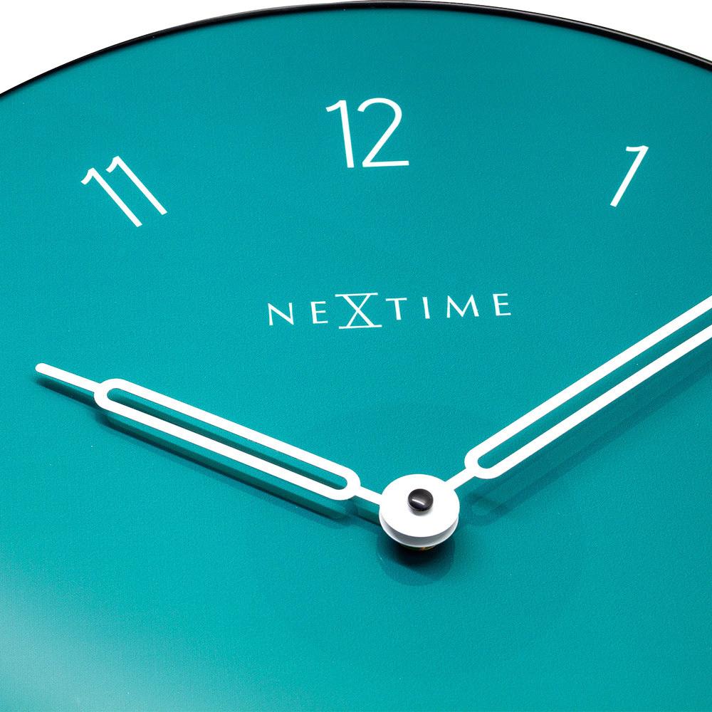 NEXTIME|北歐圓盤數字靜音掛鐘(綠)