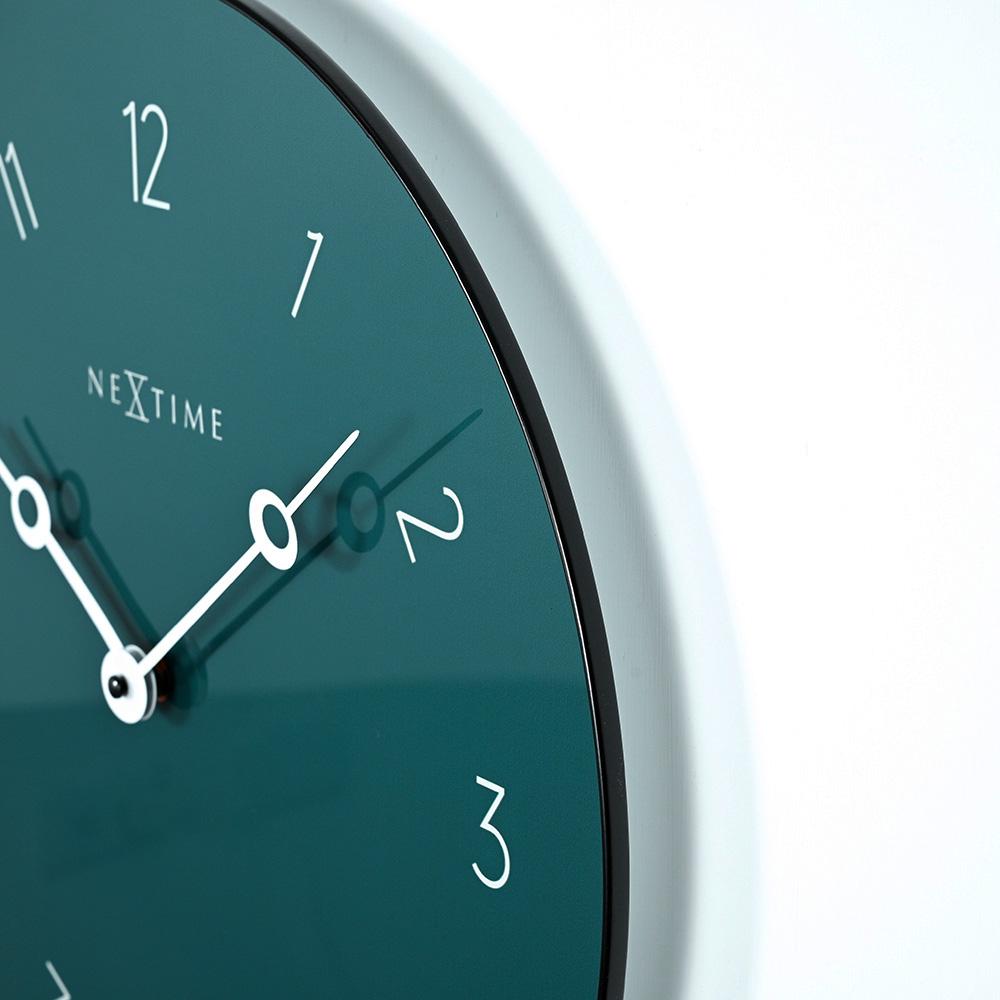 NEXTIME|北歐圓盤數字靜音掛鐘(灰)