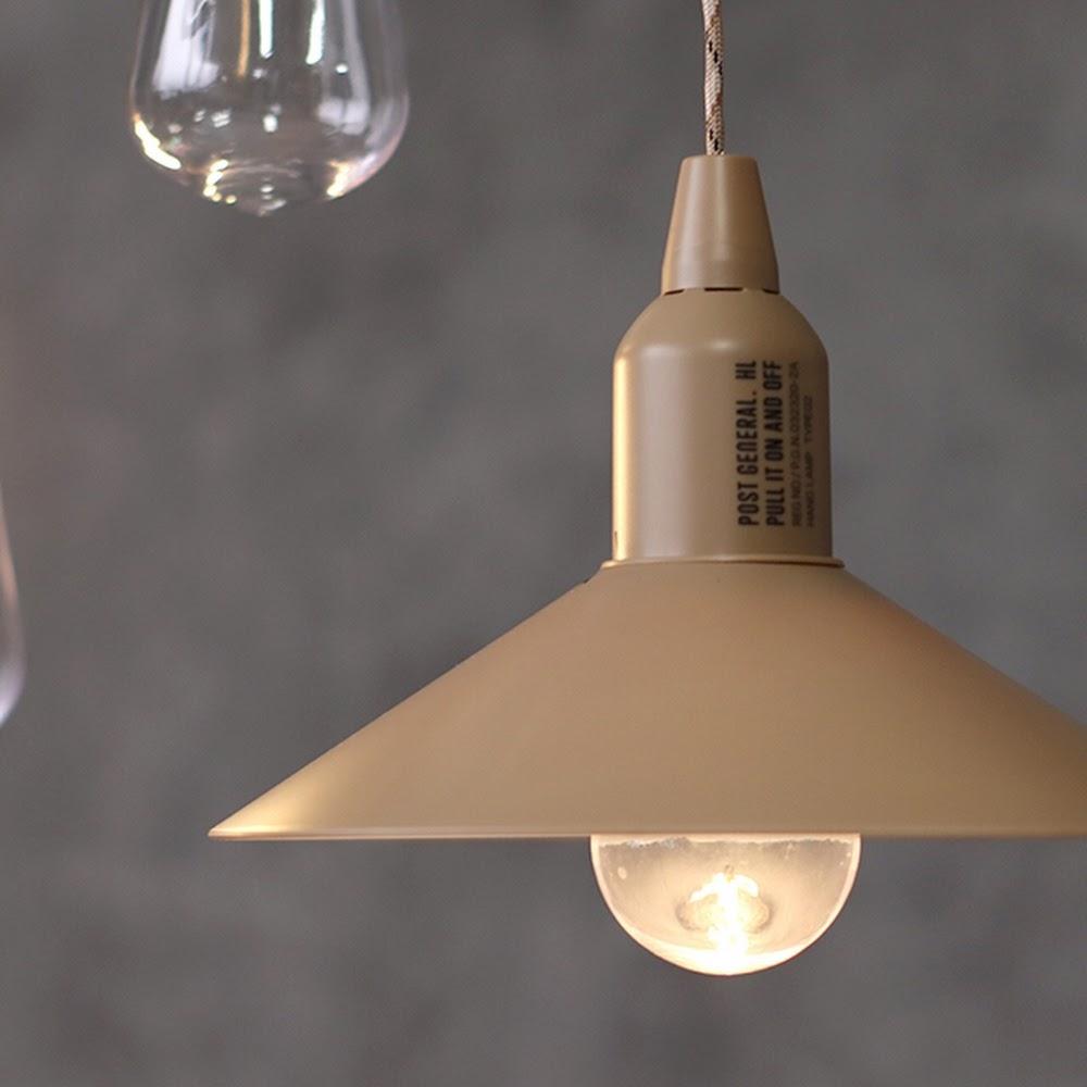 POST GENERAL|便攜型戶外露營附罩LED掛燈(砂棕色)