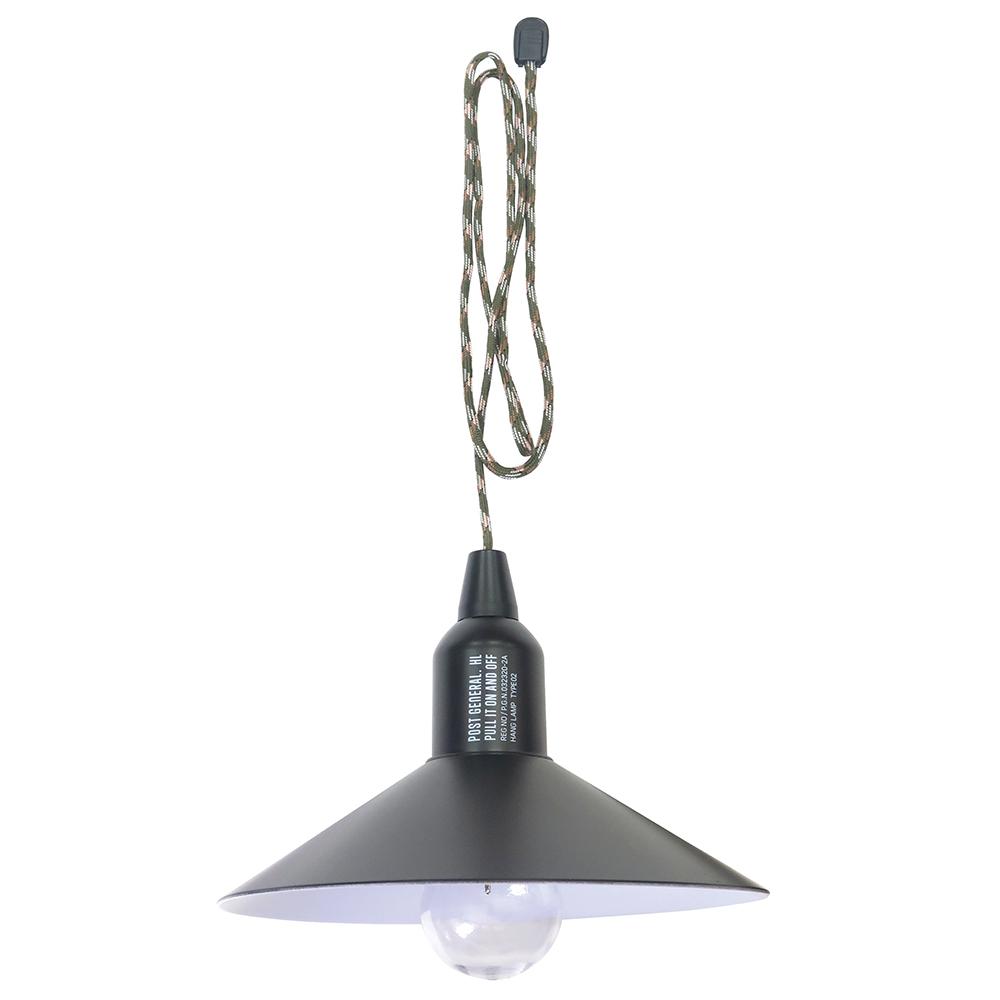 POST GENERAL 便攜型戶外露營附罩LED掛燈(玄黑色)