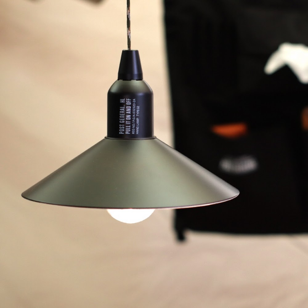 POST GENERAL|便攜型戶外露營附罩LED掛燈(橄欖綠)