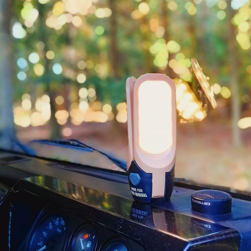 POST GENERAL 多功能太陽能充電LED燈(砂棕色)