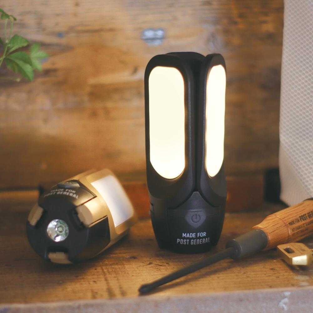 POST GENERAL|多功能太陽能充電LED燈(玄黑色)