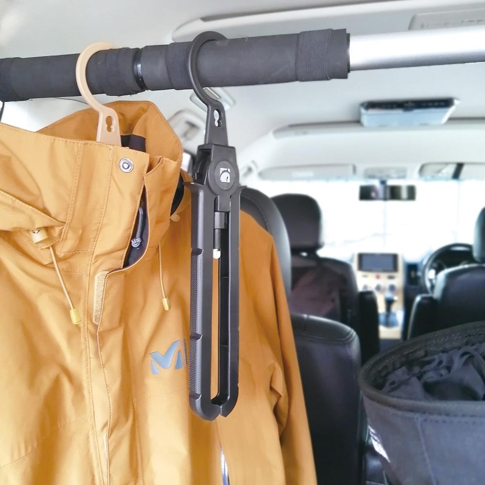POST GENERAL 多用途可折疊式收納衣架-2入組(玄黑色)