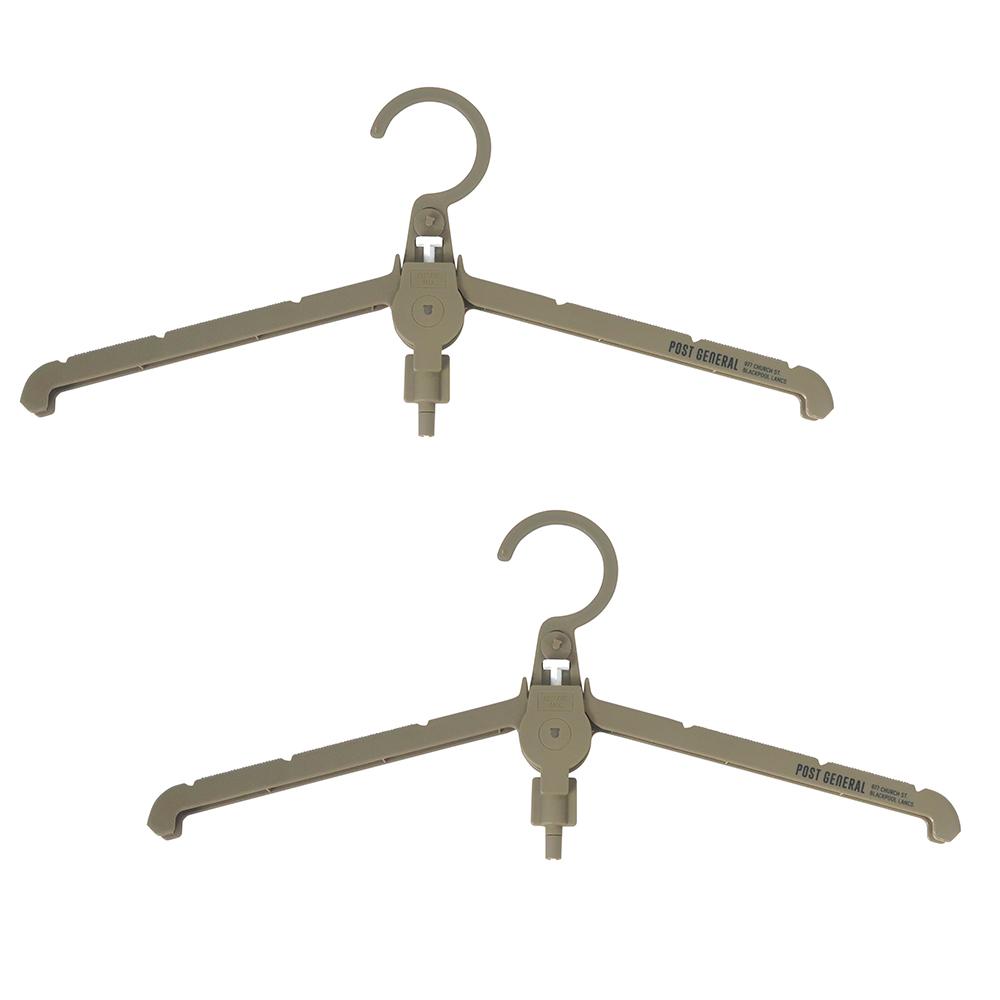 POST GENERAL|多用途可折疊式收納衣架-2入組(橄欖綠)