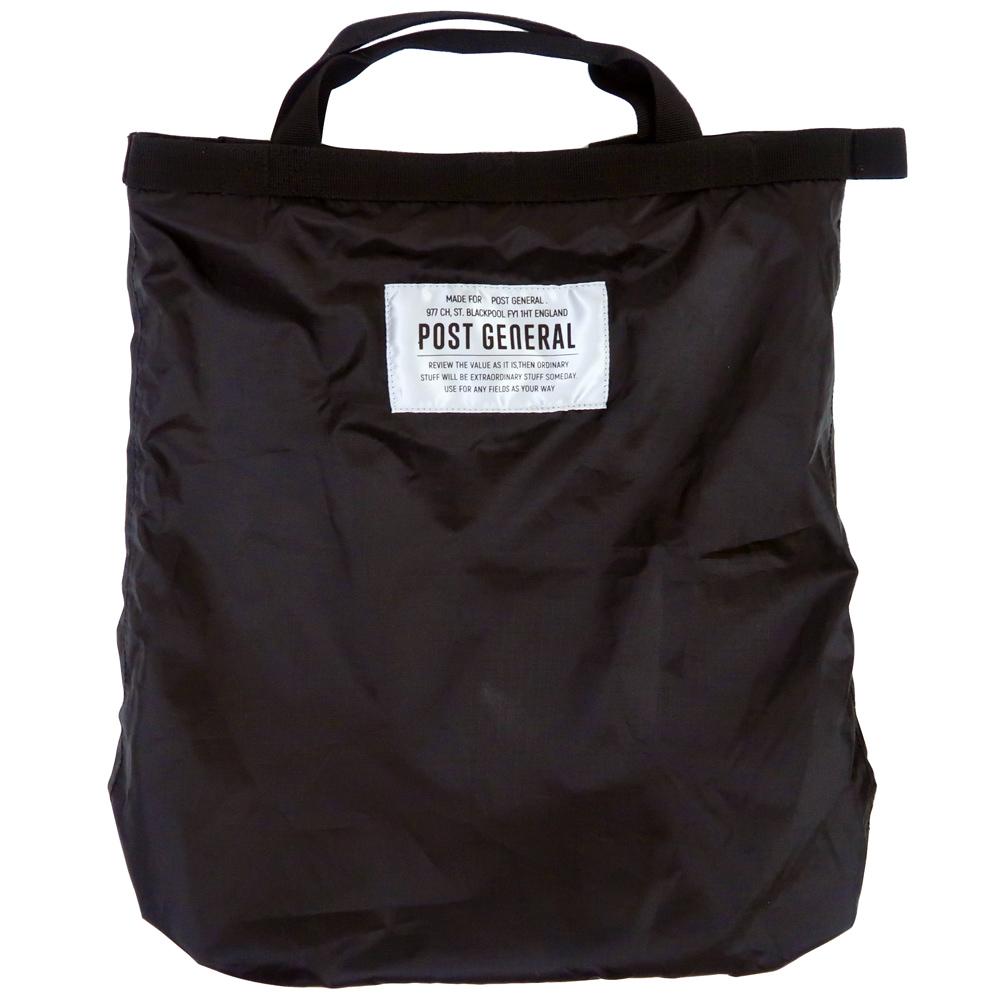 POST GENERAL|環保摺疊防潑水後背手提兩用包(玄黑色)