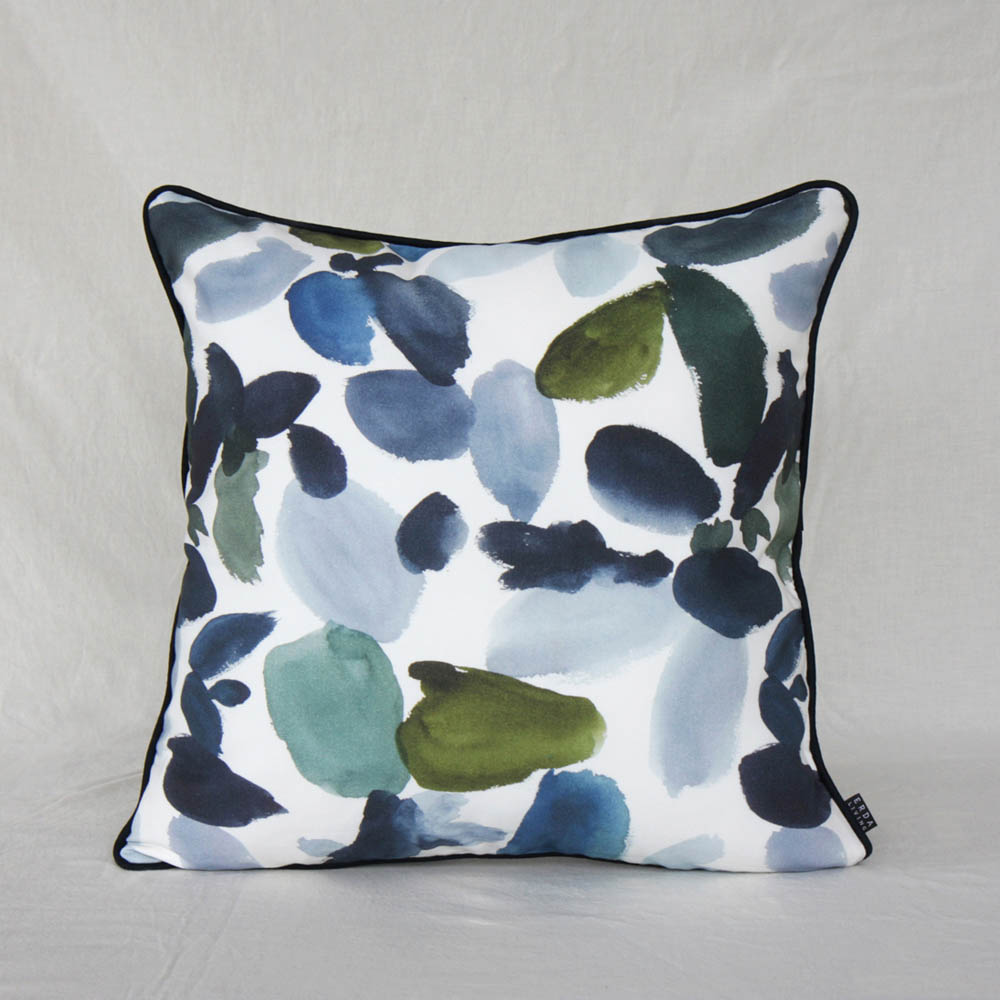 ERDA Living|盛夏慶典 抱枕套 (多色 - 湛藍.苔綠色 / 50x50cm)