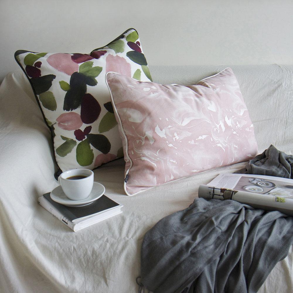 ERDA Living|地心默想 抱枕套 (茱萸粉 / 40x60cm)