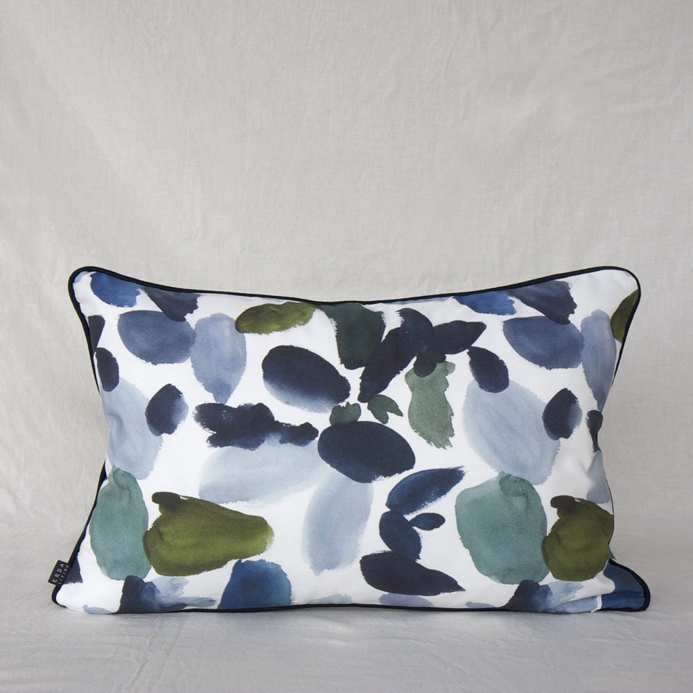 ERDA Living 盛夏慶典 抱枕套 (多色 - 湛藍.苔綠色 / 40x60cm)