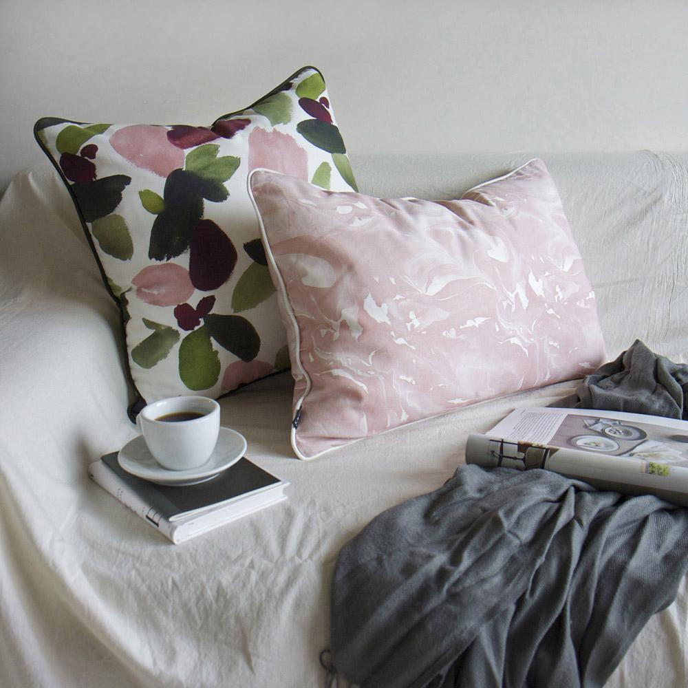 ERDA Living|春日甦醒 抱枕套 (多色 - 草木綠.玫瑰粉 / 50x50cm)