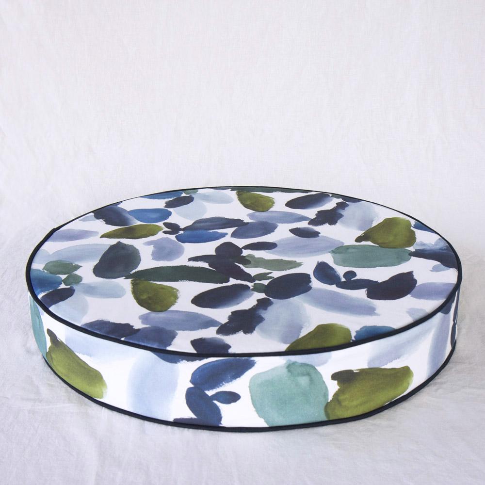 ERDA Living|盛夏慶典 靜心坐墊 (多色 - 湛藍.苔綠色 / 直徑60cmx高10cm)