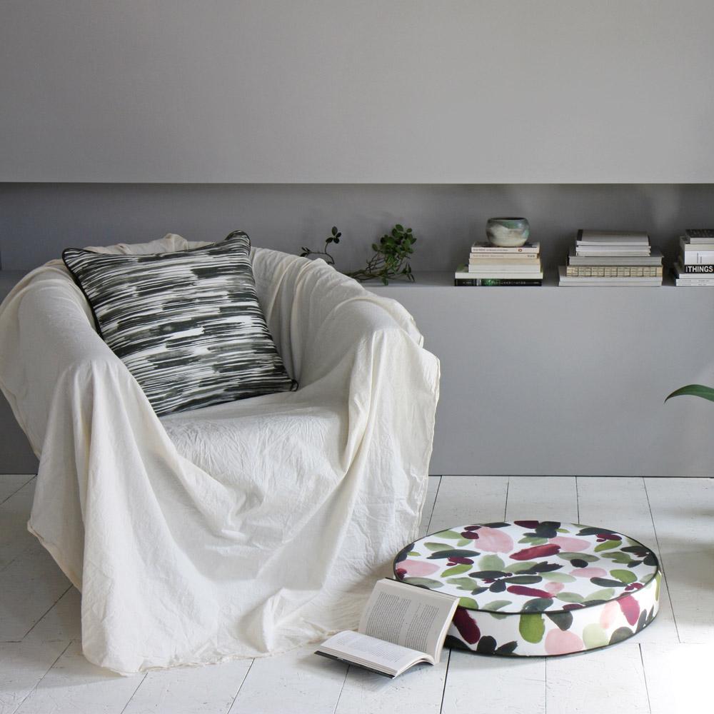 ERDA Living|春日甦醒 靜心坐墊 (多色 - 草木綠.玫瑰粉 / 直徑60cmx高10cm)