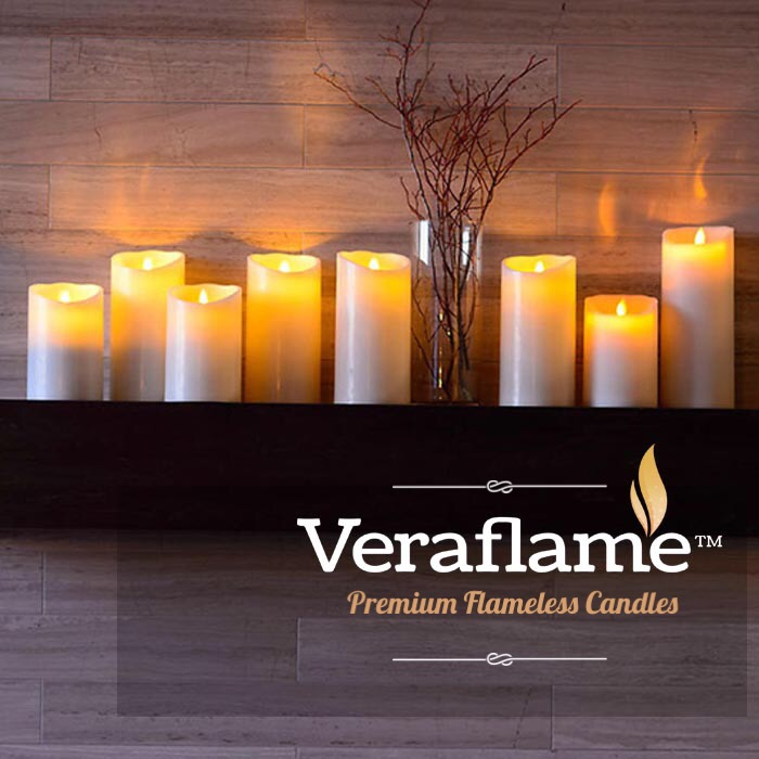 Veraflame|斜口擬真 LED 蠟燭 Oblique Edge LED Candle(紅色)