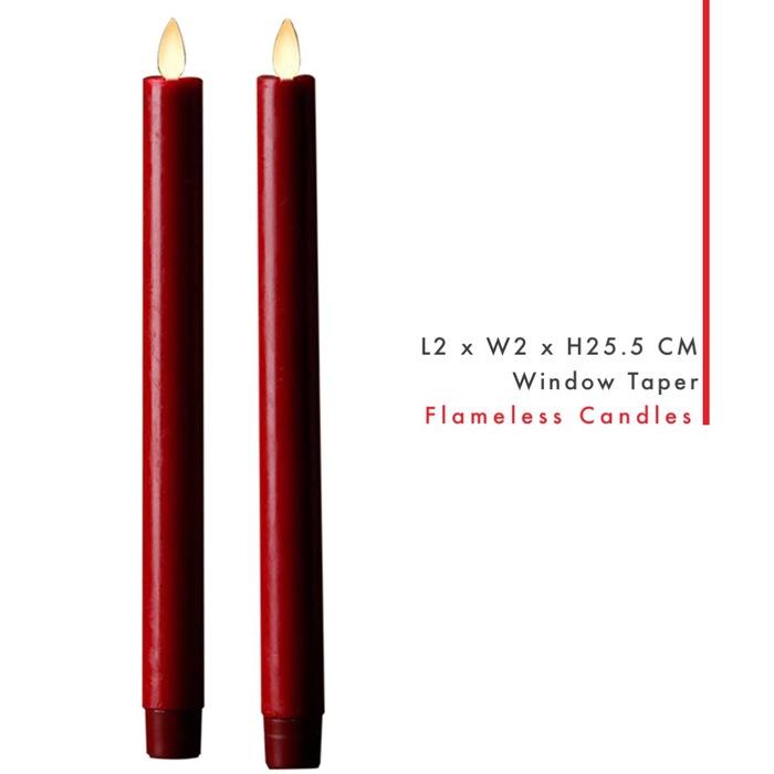 Veraflame|擬真 LED 燭燈 2件裝 Window Taper(M)