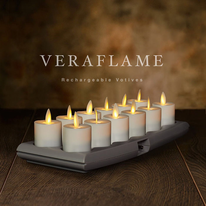 Veraflame|充電式許願蠟燭12入組Rechargeable Votives