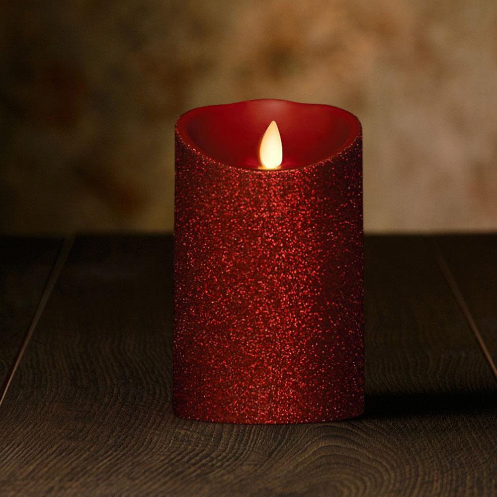 Veraflame|金蔥斜口擬真 LED 蠟燭 Glitter Oblique Edge LED Candle