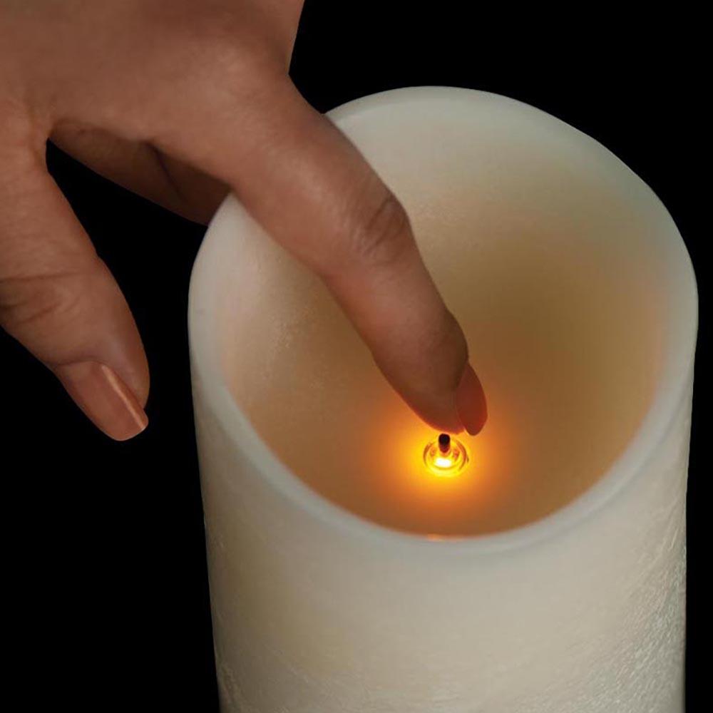 Veraflame|⍉ 4黑棉芯擬真蠟燭 Wavy Edge LED Candle(M)