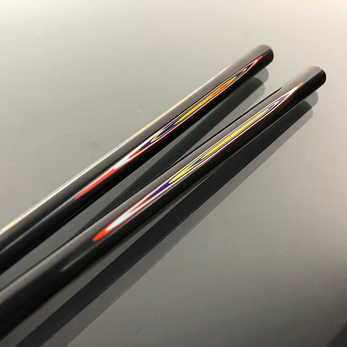 (複製)光山行|手工研磨一生一筷 線條 Lacquer chopsticks(黃綠色)