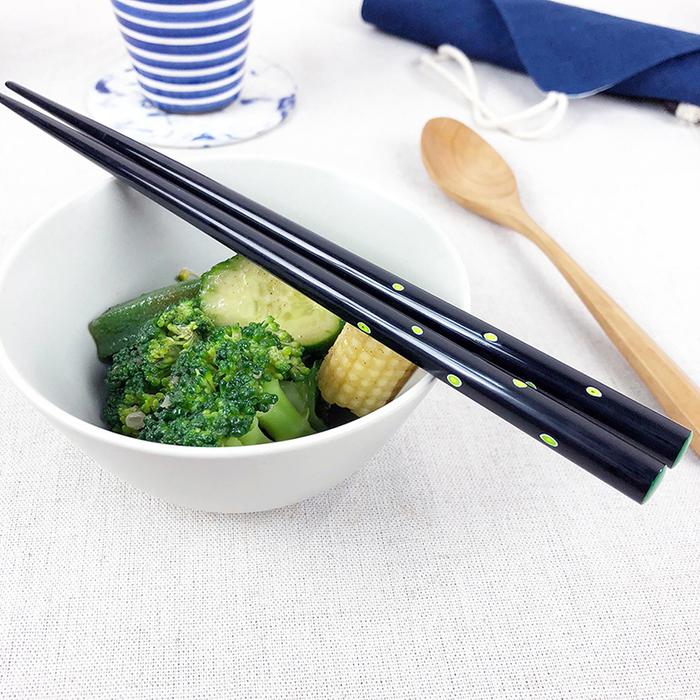 (複製)光山行 手工研磨一生一筷 線條 Lacquer chopsticks(紅藍色)
