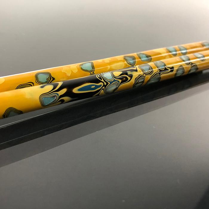 (複製)光山行|手工研磨一生一筷 旋轉 Lacquer chopsticks(黃綠色)