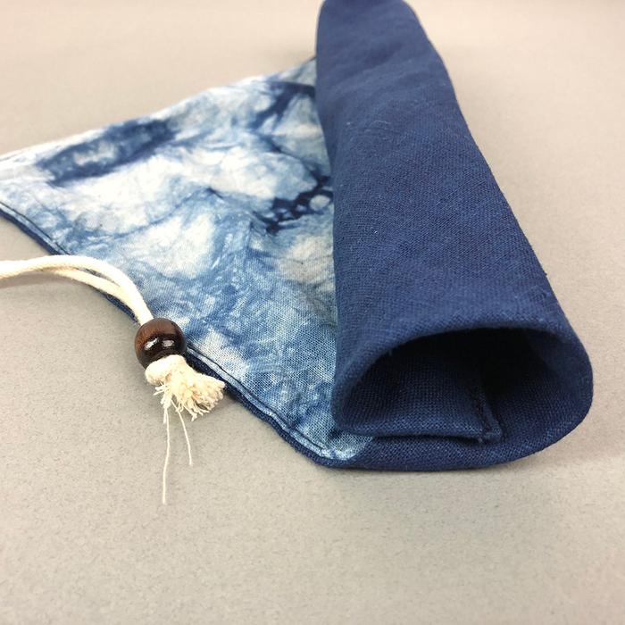 (複製)光山行|藍染餐具包 天青 Indigo cutlery bag