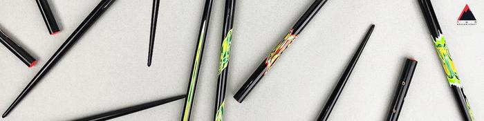光山行 手工研磨一生一筷 線條 Lacquer chopsticks(紅藍色)