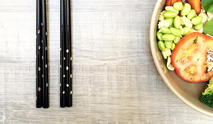 (複製)光山行|手工研磨漆筷 旋轉 Lacquer chopsticks(紅藍色)