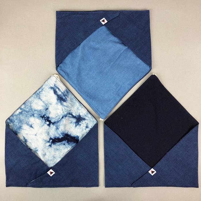 光山行|藍染餐具包 雲染 Indigo cutlery bag